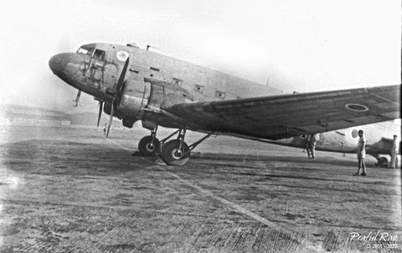 A Dakota (DC-3) aircraft of the RAF ? circa 1947
