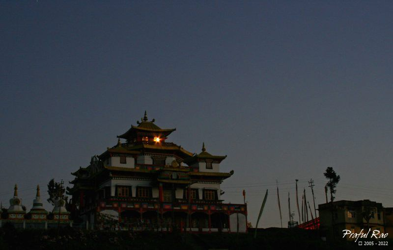 Durpin Monastery at dusk