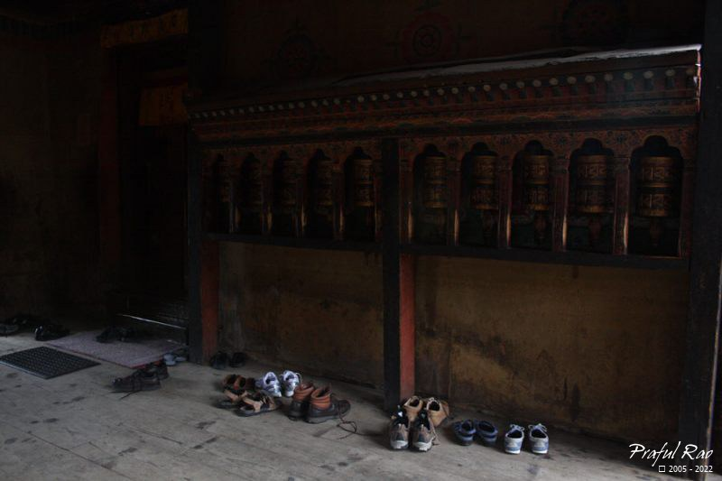 Foot wear, temple Thimphu